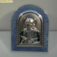 QUADRO SACRO CRISTO BASSORILIEVO ARGENTO  LAVORATO A MANO VALENTI 150170