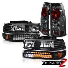 SMOKE Tail Light+LED Parking Headlights Kit 1999 2000 2001 2002 Silverado Chevy