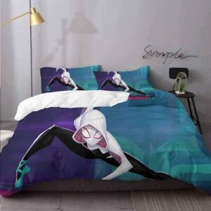 Spider-Man Gwen Stacy 3PCS Bedding Set Duvet Cover Pillowcases Twin Queen King