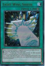 YU-GI-OH CARD: LIGHT WING SHIELD - ULTRA RARE - DUSA-EN039 - 1ST EDITION