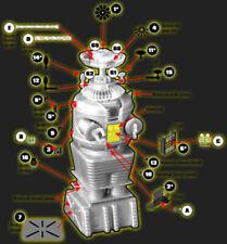 Paragrafix Lost In Space Robot Photoetch Set - Pgx124 Sci-Fi Model Add-On