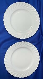 """2 PLATES 7.25"""" RARE BLANK Old Ivory Hermann Ohme Silesia Germany Porcelain 1910"""