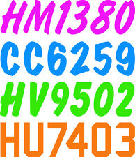 """1-7/8"""" SLED SNOW MOBILE  LICENSE HOWZAT  SNOW MACHINE,SLED REGISTRATION NUMBERS"""