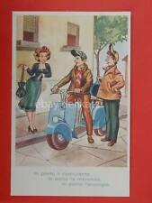 VESPA lambretta Piaggio vecchia cartolina old postcard in partenza *