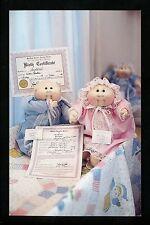Dolls postcard Cabbage Patch Kids Babies Birth Certificate Adoption Paper Chrome