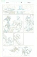 Avengers #1 p.15 Captain America gets Beat Down by Aleph - 2013 by Jerome Opena Comic Art