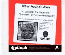 (HL120) New Found Glory, Caught In The Act - 2012 DJ CD