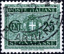 ITALIA - Regno - 1934 - Segnatasse - Stemma con fasci - Fascio littorio - 25 c.