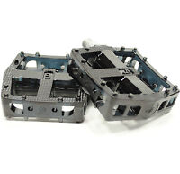 VP Downhill/DH/Freeride Platform Flat Pedals Black Polycarbonate New