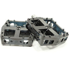 VP Downhill/DH/Freeride Platform Flat Pedals Black Polycarbonate New