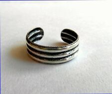 Toe Ring ! New ! Sterling Silver (925) Adjustable Three Rings