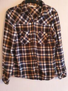 Womens Zara Size Small Checked Long Sleeved Shirt