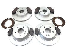 MERCEDES VITO 04-14 FRONT AND REAR BRAKE DISCS + PADS + H/B SHOES (BREMBO TYPE)
