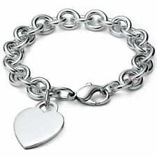 Silver S/F Ladies Cuff Heart Design Bracelet Bangle Genuine Real 925 Sterling