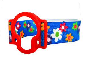 ENLITE MEDTRONIC Armband / Holder - flexible, latex-free (red, flowers 2)