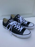 Converse Chuck Taylor All Star Black White Low Top Shoes M9166 Mens 9 Womens 11
