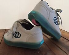 Heelys #7984 Gray Blue Sneakers Skate Shoes Size 1 Yth Youth Nice! Pink Wheels
