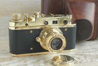 Leica II D  D.R.P. Camera lens Leitz Elmar Exclusive (Fed Zorki copy) stock