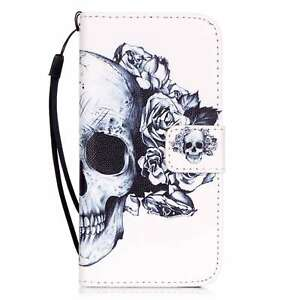 For iPhone 5/6/7/8 Samsung Fashion Flip Wallet Pattern Leather Stand Case Cover