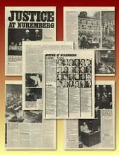 Justice At Nuremberg Goering Ribbentrop Rosenburg Keitel Old Article
