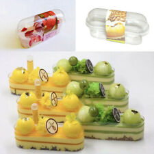 Strawberry/ Durian/ Milk Mousse Cake containers With Stickers (pack of 40) USA