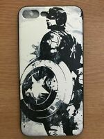 For iPhone 7 8 Captain America Superhero Marvel Avenger DC Cartoon Case Cover