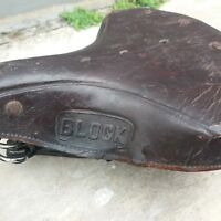 BLOCK saddle for vintage bicycle Raleigh Humber Rudge etc NOS Free shipping