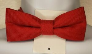 Nordstrom Kids Red Adjustable Wool and Silk Bow Tie