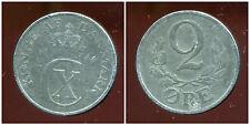 DANEMARK  WW2  2 ore 1944   zinc   ( bis )