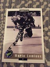 1992 CLASSIC DRAFT PICKS PROMO MARIO LEMIEUX FLASH BACK