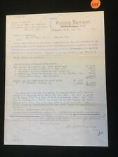 Treasury Department Pay Voucher, October 23, 1894 Lot 435
