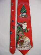 WEMBLEY - Vintage Mens Red Christmas Santa Neck Tie Pre-owned