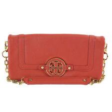 NEW Tory Burch Amanda Foldover Chain Clutch Bag Wallet Wildberry