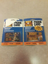 2 1995-96 Monday Night Football Phone Cards