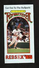 Jim Rice--1985 Boston Red Sox Schedule--Bank of Boston