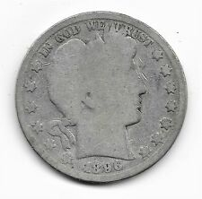 1896 O  Barber Half Dollar - About Good   condition