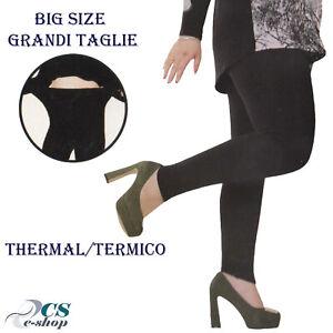 Leggings Fuseaux Donna caldo termico invernale Grandi Big Size taglia Unica