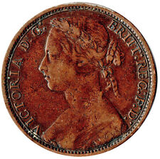 More details for 1875 one penny of queen victoria /very high grade       #jan32