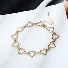 Choker Collar Necklace Heart Metal Chain Chunky Bib Necklaces Gothic Punk Cool