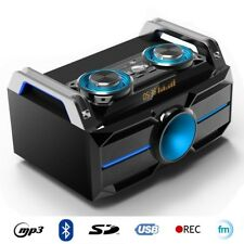 IBIZA SPLBOX100 120W Lautsprecher Box Anlage DJ Subbass USB Bluetooth Radio LED