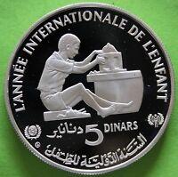 TUNISIE 5 DINARS 1982 ARGENT