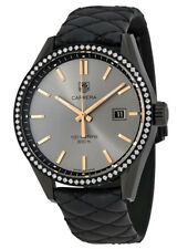 Womens TAG HEUER CARRERA CARA DELEVINGNE BLACK DIAL QUARTZ WATCH Leather NEW