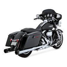 Harley Streetglide Touring 95-16 Auspuff Vance & Hines Hi-Output Carbon Chrome