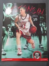 1998 UNIVERSITY OF WISCONSIN BADGERS VS MICHIGAN STATE BASKETBALL GAME PROGRAM