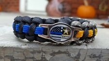 US Army Soldier Thin Blue Line Police Paracord Bracelet - FREE SHIPPING