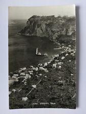 Capri Italy Vintage B&W Postcard c1950s General view
