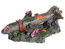 Sunken Airliner Aquarium Ornament Plane Fish Tank Aeroplane Wreckage Decoration