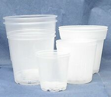 Hobby Sampler Clear Plastic Pots for Orchids 5 Sizes - Made in Germany