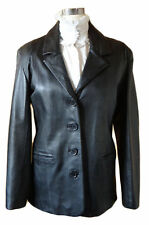 Plus Size Leather Button Coats & Jackets for Women