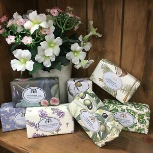 English Vintage Gift Wrapper Shea Butter Soap Collection Free P&P Over £15